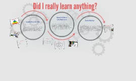 Did I really learn anything?