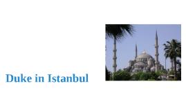 Duke in Istanbul
