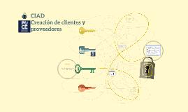 CIAD - Creación de clientes y proveedores