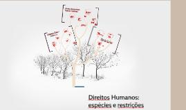 Direitos Humanos: espécies