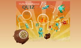 Multiple Intelligence Quiz