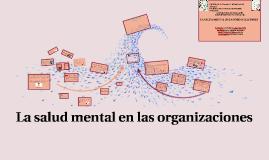 La salud mental en las organizaciones