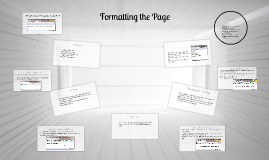 Formatting the Page