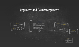 Argument and Counterargument