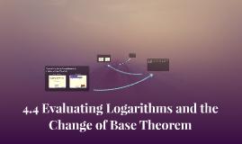 4.4 Evaluating Logarithms