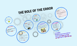The role of error