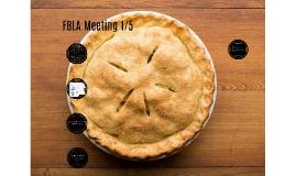 FBLA Meeting 1/5
