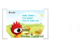 Weibo Tutorial
