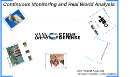 Copy of Continuous Monitoring and Real World Analysis