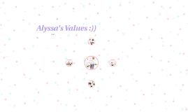 Copy of Alyssa's Values :))