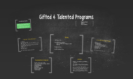 Gifted & Talented Programs