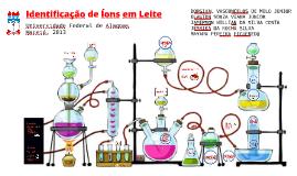 Identificação de íons em leite