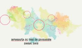 Infografía de Tics en educación social 2015