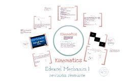 Mechanics 1 - Kinematics