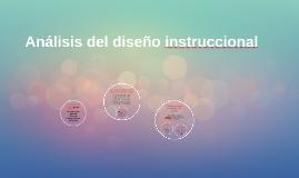 Análisis del diseño instruccional