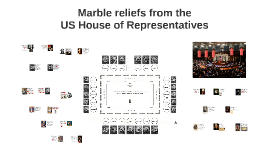 Marble reliefs from US House of Representatives