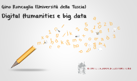Digital Humanities e big data