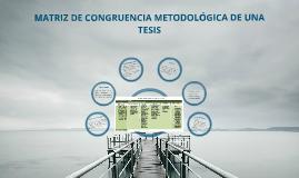 Matriz de Congruencia Metodológica...