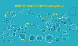 PRINCIPALES MANIFIESTOS Y REVISTAS VANGUARDISTAS