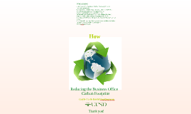 Reducing the Business Office Carbonfootprint 2