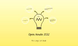 First Grade Open House 2012