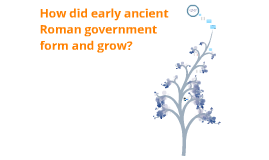 How did early ancient Roman government form and grow? (History Project)