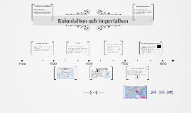 Kolonialism och imperialism