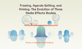 Framing, Agenda Setting, and Priming: The Evolution of Three