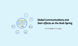 Global Communications and their effects on the Arab Spring