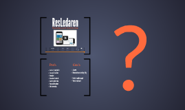 Copy of ResLedaren, from idea to startup