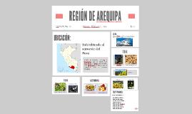 REGIÓN DE AREQUIPA