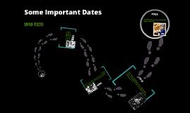 Important Dates 1848-1920