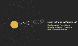 Mindfulness in Business: Values, Ethics, Empathy and Agency in Work