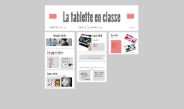 Copy of La tablette en classe