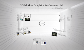 3D motion graphics for Commercial