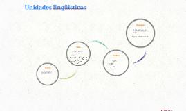 Unidades lingüisticas