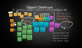 A flipped classroom for teaching a master's course on AI