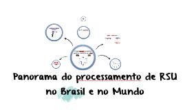 Panorama do processamento de RSU - Brasil e Mundo