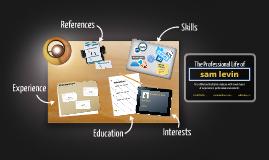 Desktop Prezumé by Sam Levin