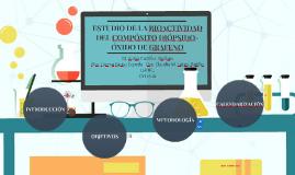 ESTUDIO DE LA BIOACTIVIDAD DEL COMPÓSITO DIÓPSIDO-ÓXIDO DE G