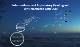 Copy of Informational Reading and Writing Aligned with CCSS
