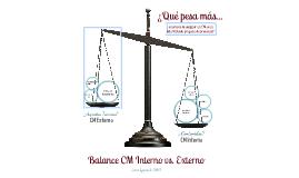 Balance CM Interno / Externo