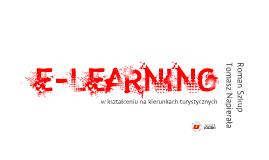 E-learning w kształceniu na kierunkach turystycznych