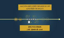 AGENDA REUNIÓN REGIONAL DE GESTIÓN HUMANA