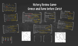 Review Game: Greece and Rome before Christ