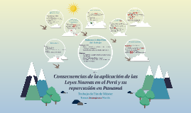 Consecuancias de la aplicación de las Leyes Nuevas en el Perú y su repercusión en Panamá