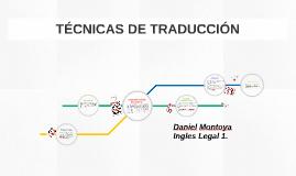 TÉCNICAS DE TRADUCCIÓN