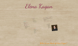 Scrapbook of Elena Kagan