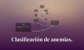 Clasificación de anemias.