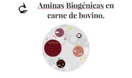 Copy of Aminas Biogénicas en carne de bovino.